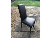 4 Real Leather Dining Room Chairs