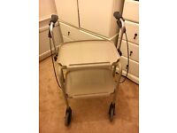 Days Mobility 4 Wheel Walker Kitchen Trolley Indoor Adjustable Height Hand Brakes