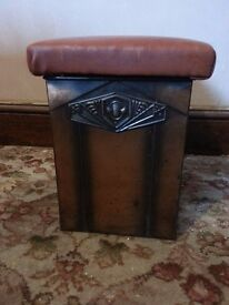 Fire Place Coal Skuttle / Padded Seat Box