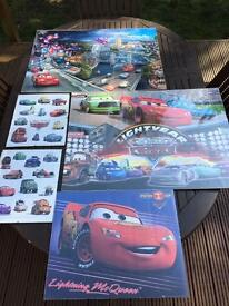 Framed Disney Cars posters