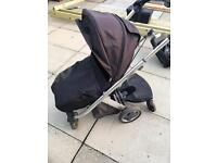 Pram/ buggy with buggy board
