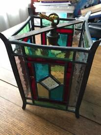 Period stained glass leaded lantern