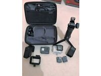 GoPro Hero 5 Black Action Cam with lots of expensive accessories