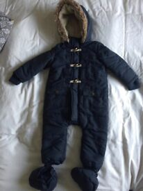 Boys winter coat all-in-one, 12-18 months