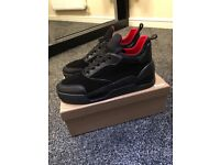 Christian Louboutin Aurelien Red Bottoms Suede Black FIRST ONES on Gumtree