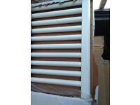 bathroom towel radiator, white, straight rails, 1800 x 500mm.
