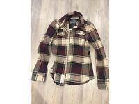 Women's lumber jack shirt, burgundy, hardly worn - WOMENS MEDIUM