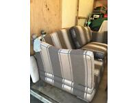 Parker knoll 3 seater sofa silver grey winged high back