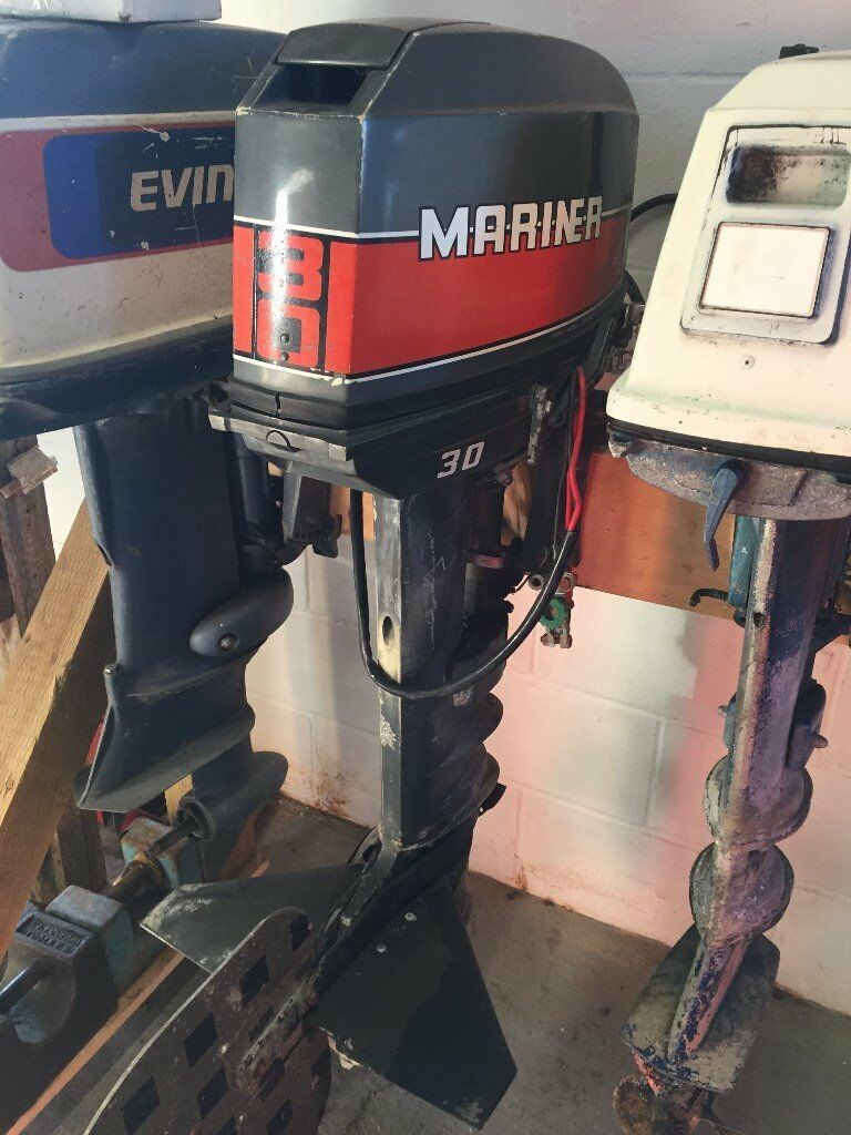 30hp Mariner Yamaha Outboard Boat Engine Long Shaft Spares Or Repair 30 Hp Wiring