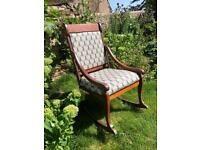 Liberty fabric vintage rocking chair