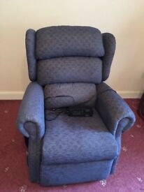Electric powered armchair which can rise and recline. As new.
