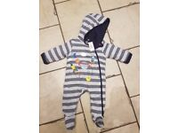 Blue Zoo 3-6 month winter romper