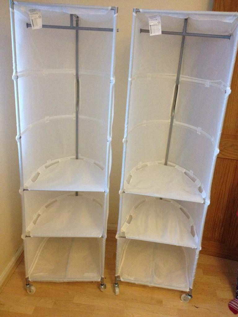 Ikea Swivel Canvas Wardrobes With Shelves 163 7 Each In