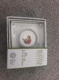 Mr Jeremy Fisher Silver Proof 50p