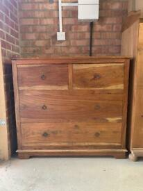 Solid wood 4 drawer chest of drawers