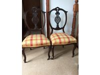 LOVEY PAIR VICTORIAN CHAIRS