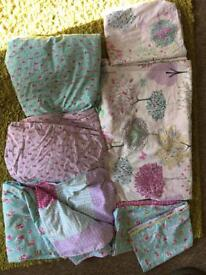 2 x Next girls reversible bed sets