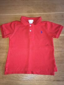 Ralph Lauren Polo Top Red Baby Infant 24 Months