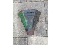 Cast iron rainwater gutter downpipe hopper