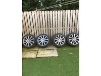 Hi I'm selling my old 2008 Range Rover sport wheels & tyres, 2 brand new tyres ,wheels need a refurb