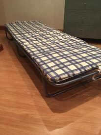 Brand New Folding Single Bed with Mattress