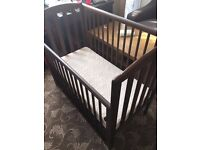 Baby cot with mattress for sale