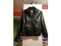 Men's real leather jacket size S
