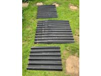 Corrugated bitumen roofing sheets and foam inserts