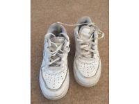 Children's Nike white trainers