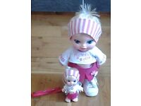 TWO JAGGETS FLOWER POWER DOLLS - ONE LARGE AND ONE SMALL WITH LANYARD TO TAKE HER WITH YOU!