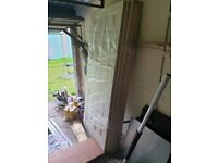 6 off Howden 6 panel grained white internal doors never used