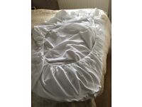 Single bed fitted white under sheet. Waterproof. Pre owned