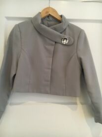 ladies grey dress suit size 10