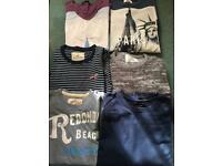 Lads medium Tshirts and jumpers