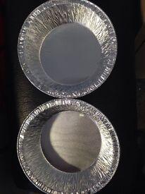 Aluminium pies dishes