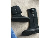 Black ugg cardi boots