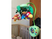 Fisher Price rain forest musical cot mobile