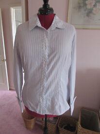 George long sleeve grey/blue/white shirt Size 18 BNWT