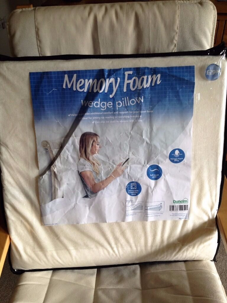 2 X Dunelm Mill Memory Foam Wedge Pillows In Ferndown