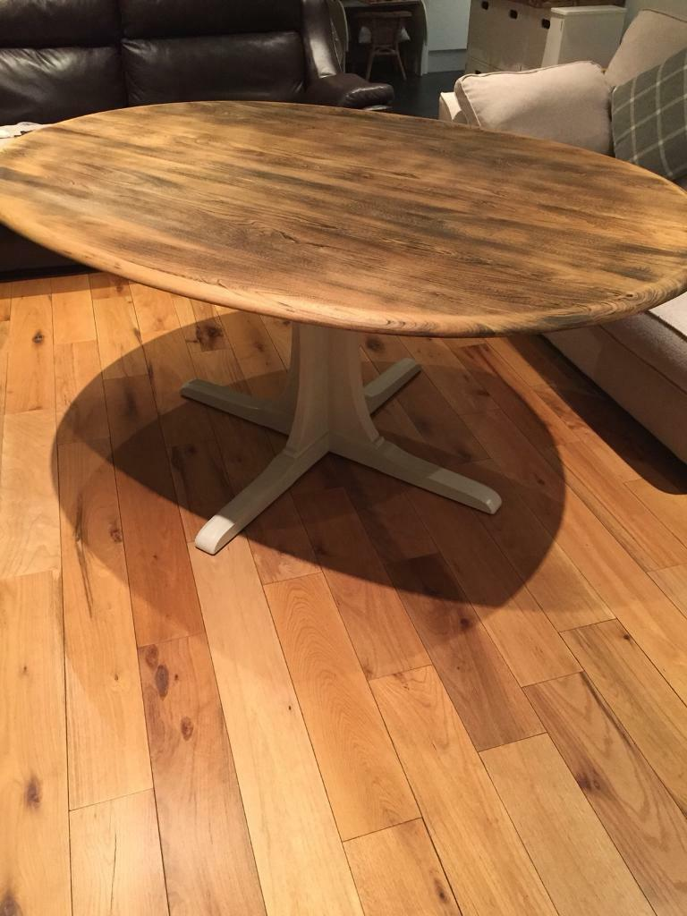 Refurbished Ercol Oval Dining Table
