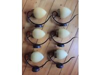 6 x Wall Lights, used but in excellent condition incl all wall bracket fittings etc