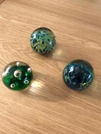 8 Glass paper weights from £ 2 each