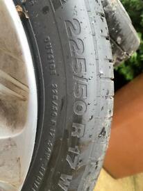 """Mercedes Alloys 17"""" x4"""