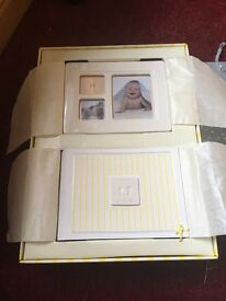 Belleek baby gift box - includes photo frame and album