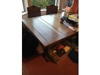 1940's dining table and six chairs