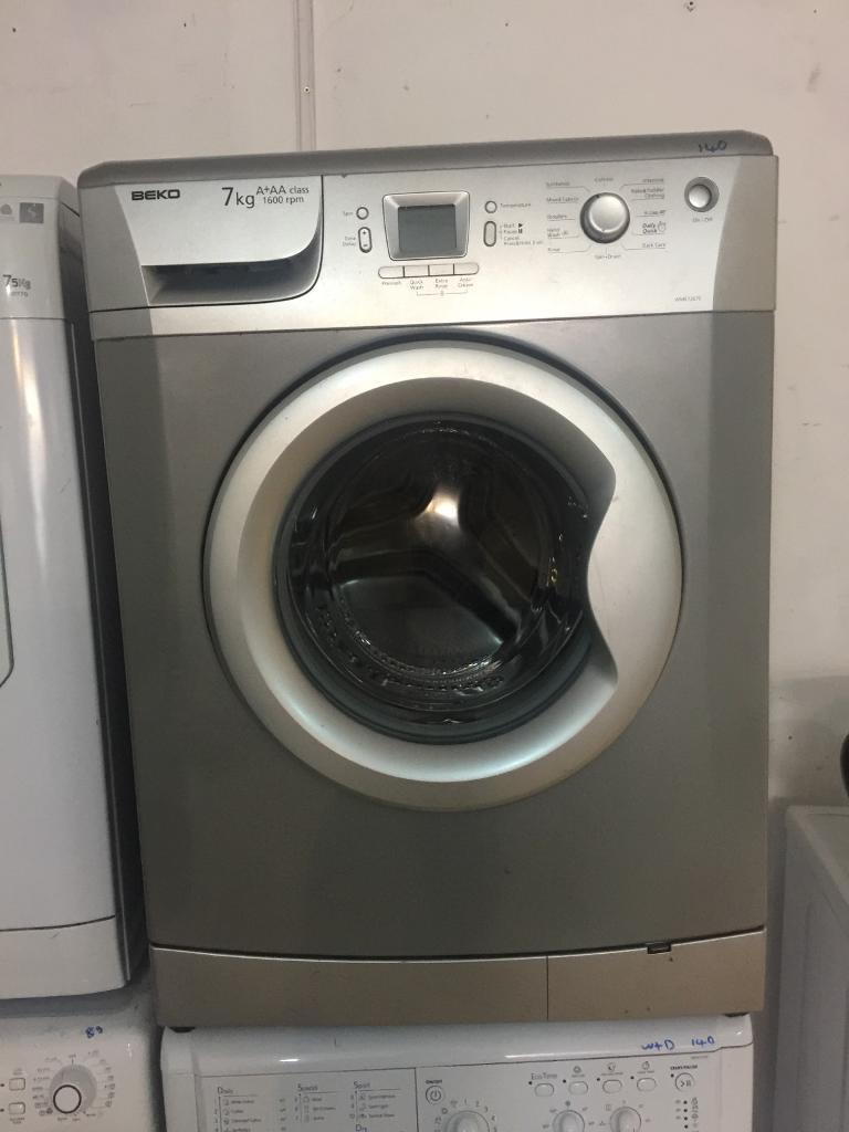 16. Silver Beko 7kg washing machine