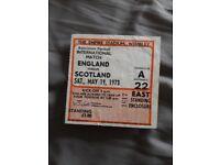 England Scotland and England Poland 1973 Ticket £5 ea.