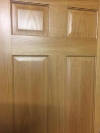 Solid 6 panel oak door