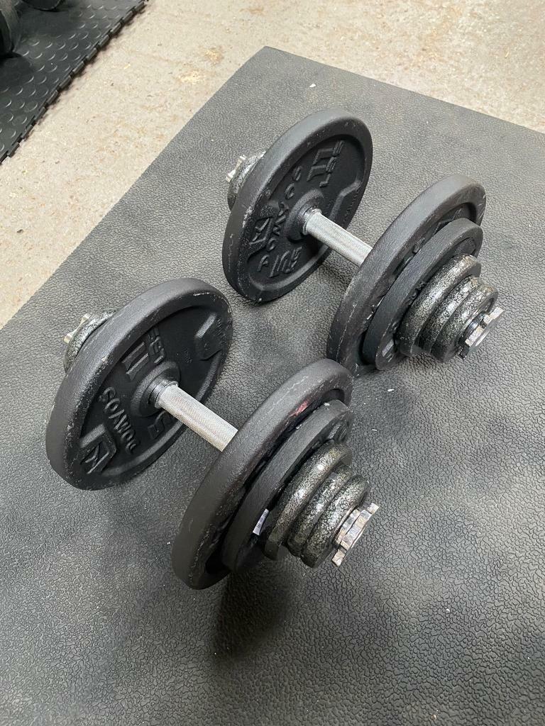 Pair Hex Dumbells 20kg x2 40kg in total