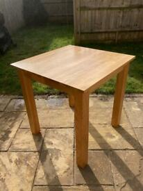 Oak Furnitureland Square Small Dining Table - £420 New, Very Good Condition 75x75x77cm £165ono